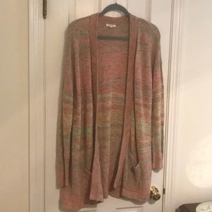 Maurices 2 plus tunic crochet sweater with pockets
